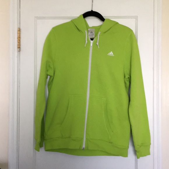 green adidas hoodie womens